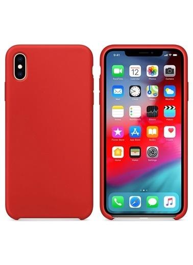 Bludfire Apple iPhone XS Kılıf Liquid Lansman Silikon Kırmızı Kırmızı